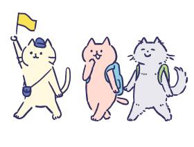 猫 | ガーリー素材 – ふんわり可愛い無料イラスト素材 - ふんわり可愛い無料イラスト素材