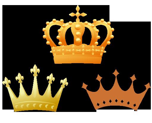 王冠 ガーリー素材 ふんわり可愛い無料イラスト素材 ふんわり